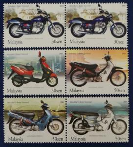 Malaysia Scott # 938-940 Malaysian Motorcycles & Scooters Stamps Set MNH