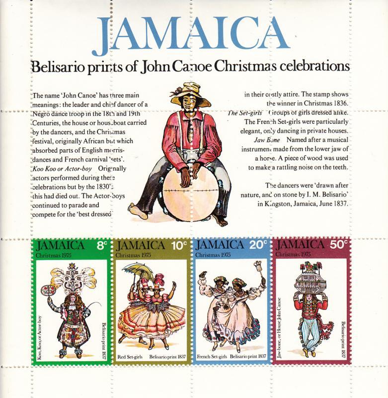 Jamaica MNH S/S 405a John Canoe Christmas Celebration 1975