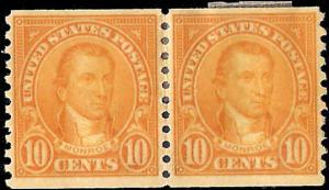 603 Mint,OG,HRs... Pair... SCV $8.00