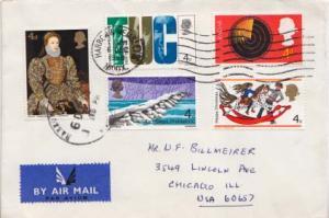 Great Britain, Airmail, Christmas, Art
