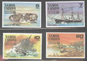 Samoa i Sisifo Scott  325-328 MNH** Shipwreck set
