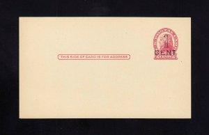 UX33, UPSS #S45-36 PUEBLO Surcharge, Mint Postal Card, UPSS Cat 70.00