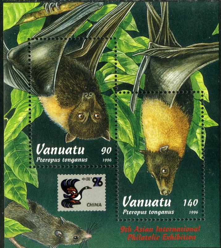 Vanuatu MNH S/S 677 Bats SCV 5.25