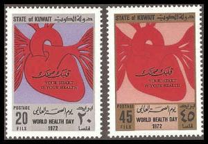 Kuwait 545-546 Mint VF NH