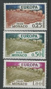 Monaco # 507-09  Europa  1962 - Wheat Fields    (3)  Mint NH