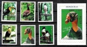 HONDURAS 1997 FAUNA BIRDS SET+S/S YV 291-5AE893+BL54 MNH