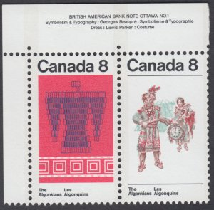 Canada -  #569a Algonkian Indians Se-Tenant Pair - MNH