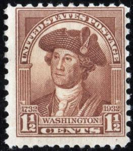 SC#706 1½¢ Washington Bicentennial (1932) MNH