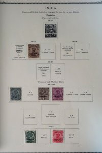 India States 1800s to 1950 Stamp Collection