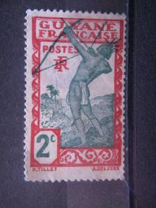FRENCH GUIANA, 1929, MH 2c, Scott 110, creased