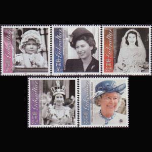 GIBRALTAR 2001 - Scott# 875-9 Queen B/Day Set of 5 NH