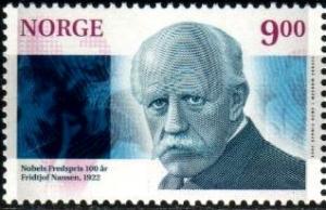 Nobel Peace Prize 1922, Fridjof Nansen, Norway SC#1312 MNH