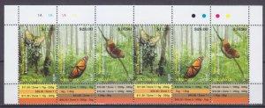 2014 Niuafo'ou 554-556stripx2 Butterflies 120,00 €