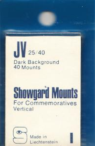 SHOWGARD BLACK MOUNTS JV 25/40 (40) RETAIL PRICE $3.95