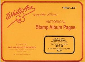 WHITE ACE 2020 US Regular Issue Singles & Coil Pairs Album Supplement RSC-44