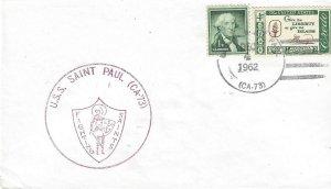 USS Saint Paul CA 73 US Naval Cover 1962