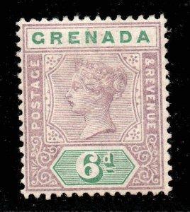 Grenada 1895 QV 6d mauve & green SG 53 mint
