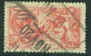 Great Britain Scott 180 Britannia Searhorse 1913 CV$125