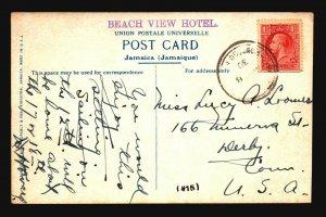 Jamaica 1930 Postcard to USA - Z17655