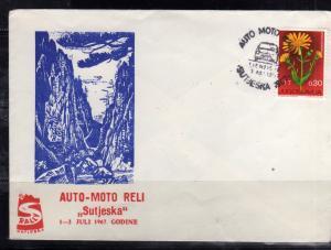 JUGOSLAVIA YUGOSLAVIA 1-3 7 1967 CARS RALLY AUTO MOTO RELI SUTJESKA COVER SPE...
