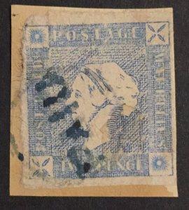 Mauritius 1859 Two Pence Lapirot   Cat.RHM 8