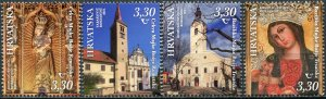 Croatia 2021. Famous shrines of Croatia (MNH OG) Set of 4 stamps