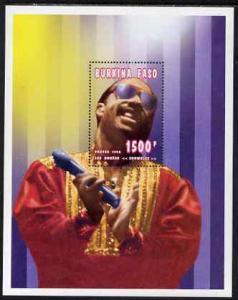 Burkina Faso 1995 Showbiz - 1500f Stevie Wonder perf m/sh...