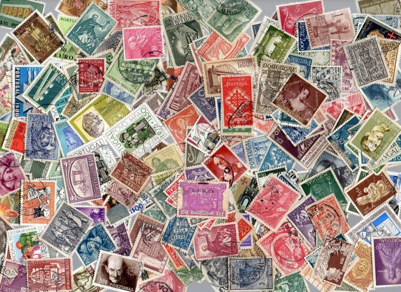 PORTUGAL USED POSTAGE STAMP COLLECTION LOT CATALOGUE VALUE + $200
