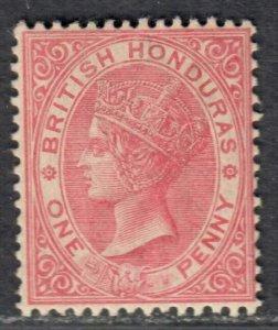$Br. Honduras Sc#14 M/NH/F-VF, wmk#2, Cv. $27.50