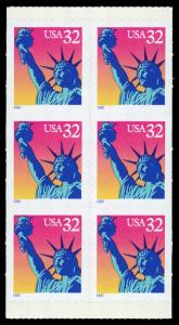 USA 3122d Mint (NH) Booklet Pane of 6