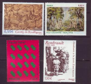 J20484 Jlstamps 2006 france set mnh #3197-3200 art