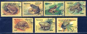 Tanzania 1996: Sc. # 1453-1459; O/Used Cpl Set