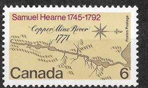 Canada # 540    Map: Copper Mine River (1) Mint NH