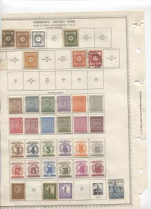 STAMP STATION PERTH -German Saxony/Thuringia #38 Mint Stamps on Paper- Unchecked
