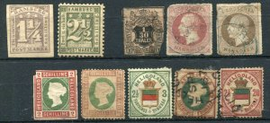H) HAMBURG HANNOVER HELIGOLAND Postage Stamp Collection Used Mint LH
