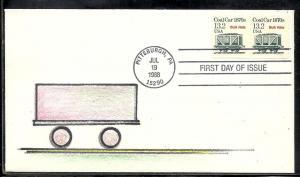 U. S. #2259 Coal Car Weston cachet U/A #