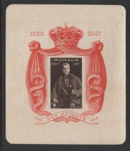 Monaco 1947 Prince Louis S/S Sc# B94 NH