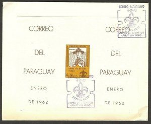 1962 Paraguay Scouts badge FDC imp SS