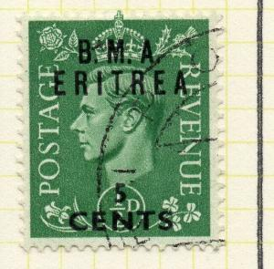 Eritrea 1948-50 Early Issue Fine Used 5c. Surcharged BMA Optd 308042