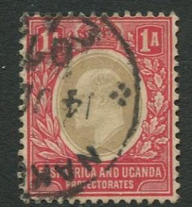 East Africa & Uganda -Scott 18a- KEVII Definitive -1904 -Used -Single 1a Stamp