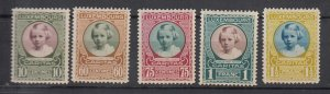 J25720 JLstamps 1928 luxembourg set mh #b30-4 princess