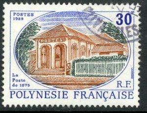 FRENCH POLYNESIA 1989 30fr Tahiti Post Office Sc 501 VFU