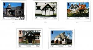 Isle of Man Sc 924-8 2001 Scott Architecture stamp set used