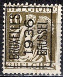 Belgium; 1932: Sc. # 247; O/Used PreCancel Single Stamp