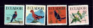 Ecuador 645-48 MNH 1958 Birds