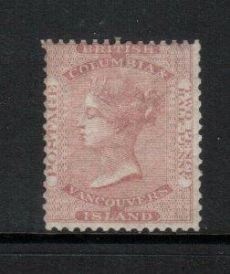 British Columbia #2a Mint Fine Original Gum Hinged