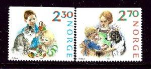 Norway 920-21 MNH 1987 Christmas    (ap4046)