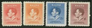 Nauru 35-38 Mint VF H (37 th)
