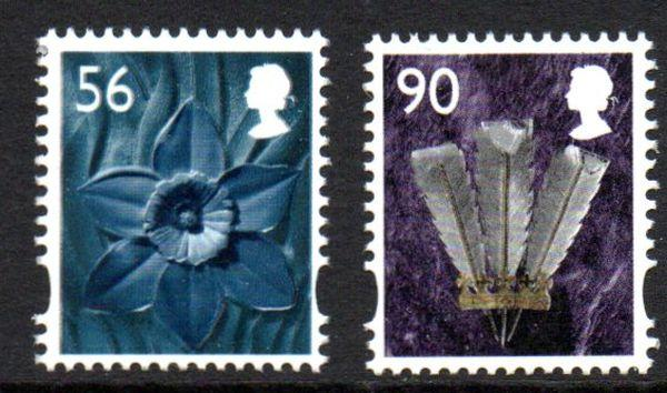 Great Britain Wales 33-4 2009  Daffodil & Feathers stamp set mint NH