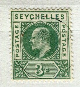 SEYCHELLES; Early 1900s Ed VII issue fine used 3c. value + Anse Royale cancel